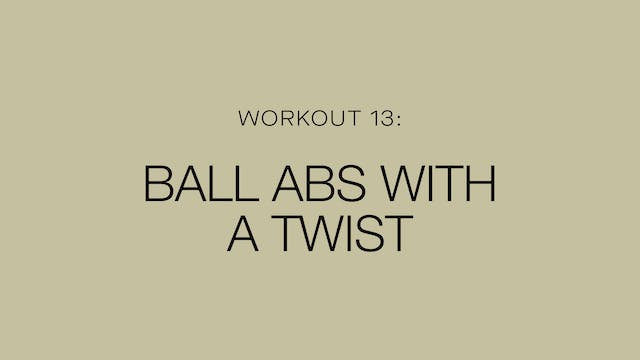 Ball Abs With A Twist