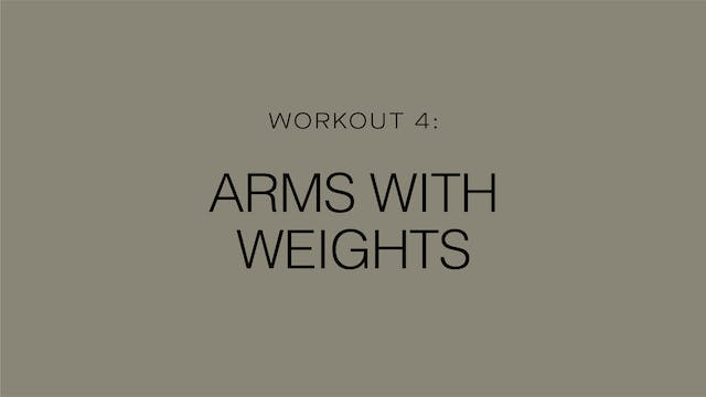 Workout 4: Arms With Weights