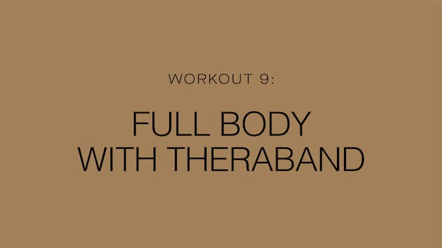Workout 9: Full Body with Theraband