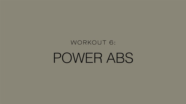 Workout 6: Power Abs