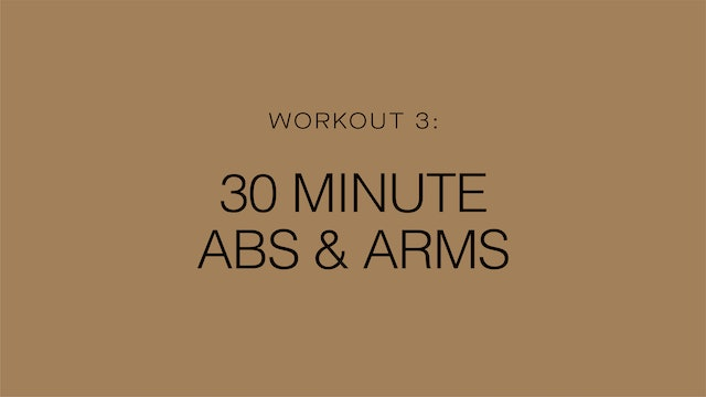 Workout 3: 30 Minute Abs & Arms