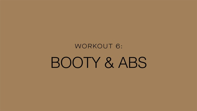 Workout 6: Booty & Abs