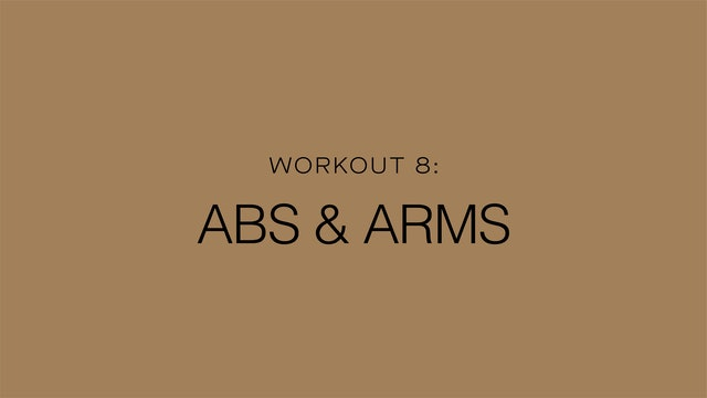 Workout 8: Abs & Arms