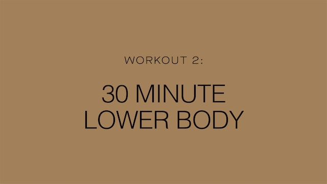 Workout 2: 30 Minute Lower Body