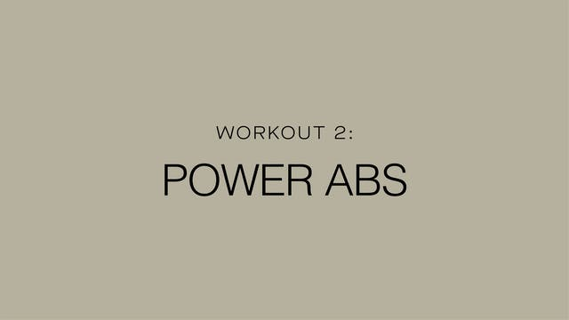 Workout 2: Power Abs