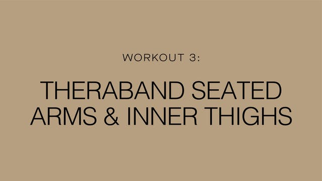 Workout 3: Theraband Seated Arms & In...