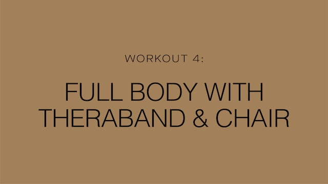 Workout 4: Full Body with Theraband & Chair
