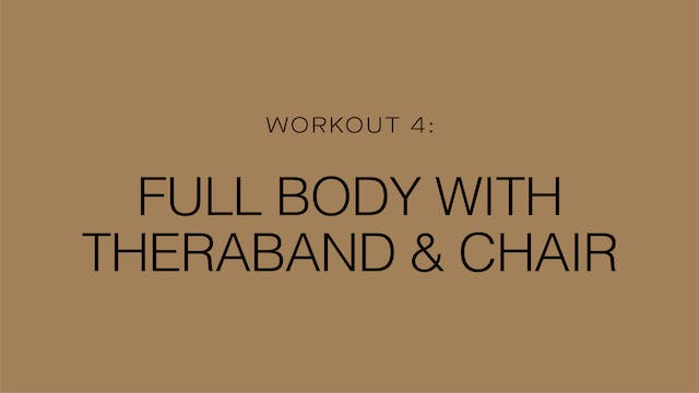 Workout 4: Full Body with Theraband &...