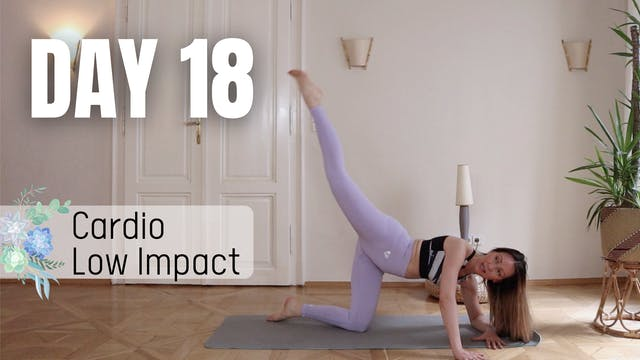 Day 18_Cardio Low Impact Pilates