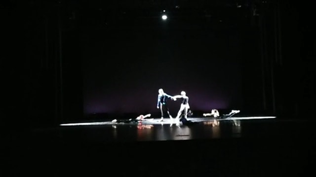 Choreography the light performance