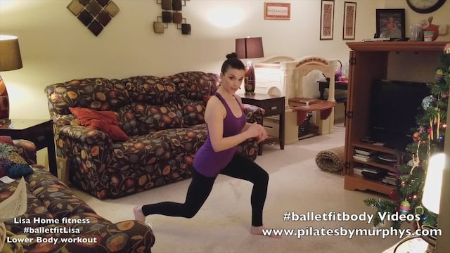 Fitness at home with Lisa:  Reverse lunge