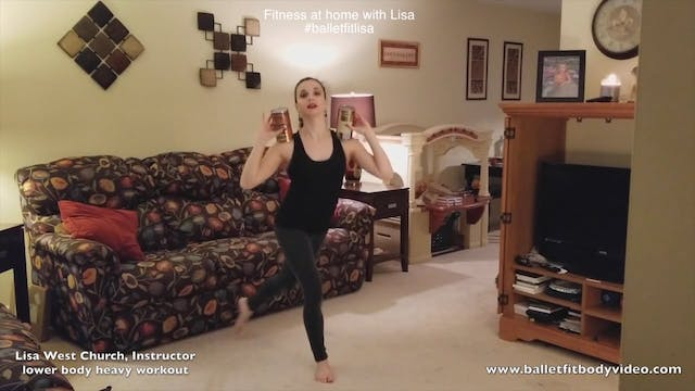 Fitness at home: Lower body heavy