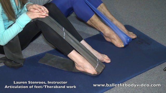 Feet Strengthening thera-band work part 2