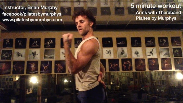 Theraband:   biceps triceps