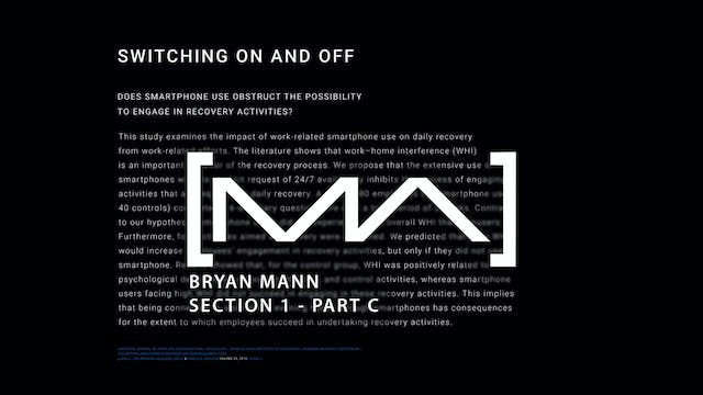 Bryan Mann - Section 1 - Part C