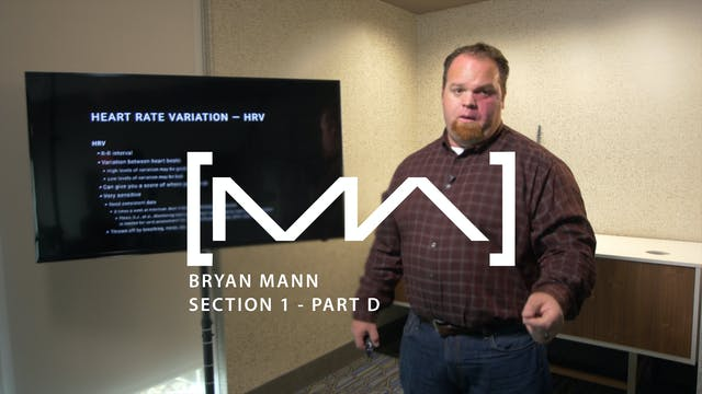 Bryan Mann - Section 1 - Part D