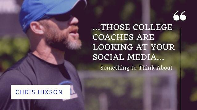 CHRIS HIXSON: Social Media/Twitter
