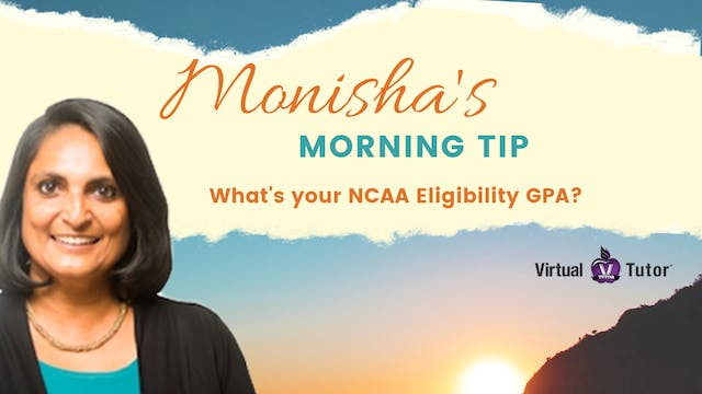 Monisha's Morning Tip