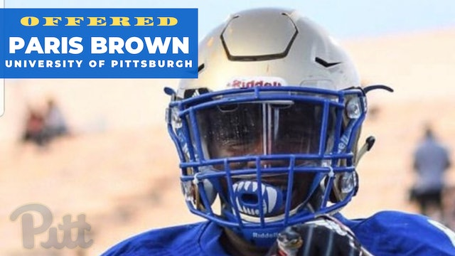 2019 Paris Brown Receives a Full Football Scholarship OFFER!