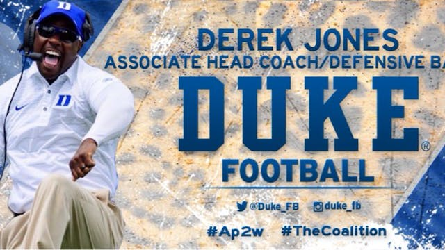 Coach Derek Jones: ALWAYS PLAY TO WIN