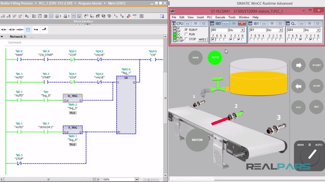100. Bottle Filling Process PLC Program _ Part 6