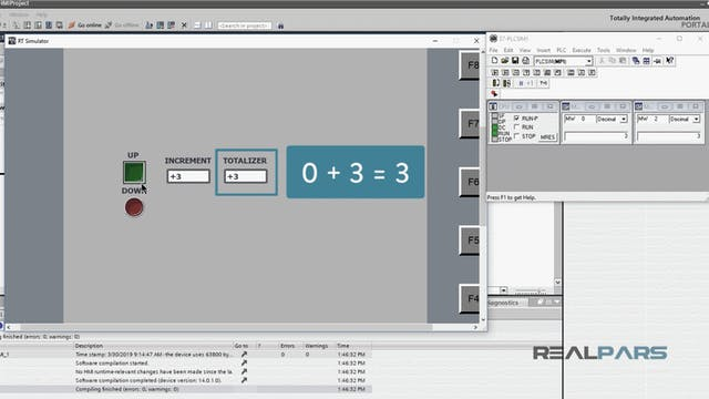 5. Compiling, Loading, and Simulating an HMI Screen