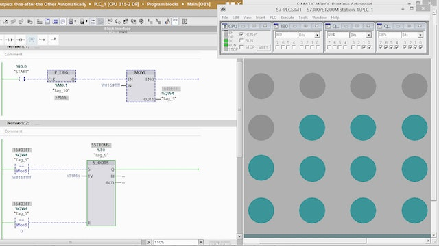 203. Turning Off PLC Outputs One-after-the Other Automatically – Part 2