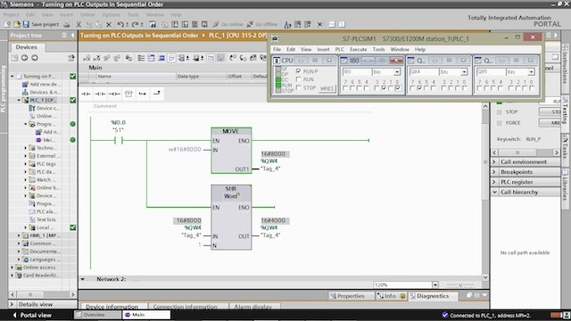 10. Turning on PLC Outputs in Sequential Order – Part 5