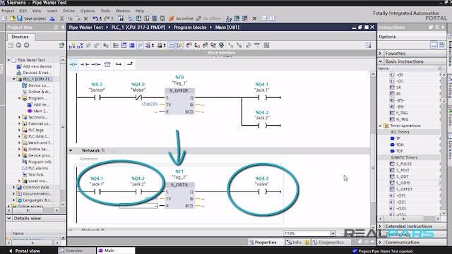 82. Pipe Water Test PLC Program _ Part 2