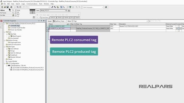 5. Adding the Remote PLC Consume Tag