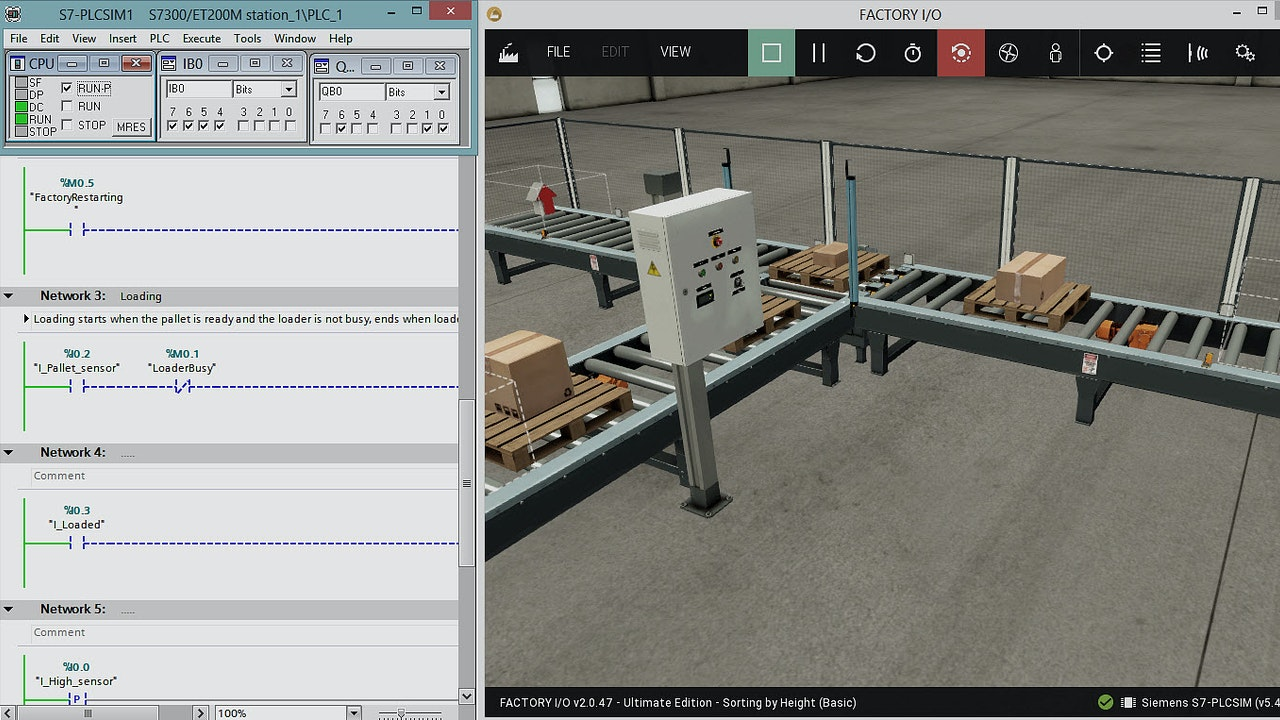 Getting Started with the Factory Simulation Software Called Factory I/O