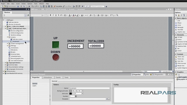 4. Using WinCC to Create a Screen for the HMI