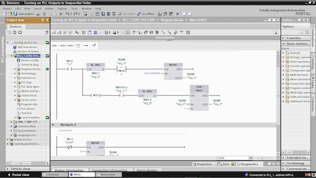 8. Turning on PLC Outputs in Sequential Order – Part 7