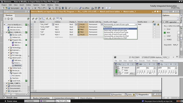 3. How to Modify an Input Value in Your PLC Program – Part 1