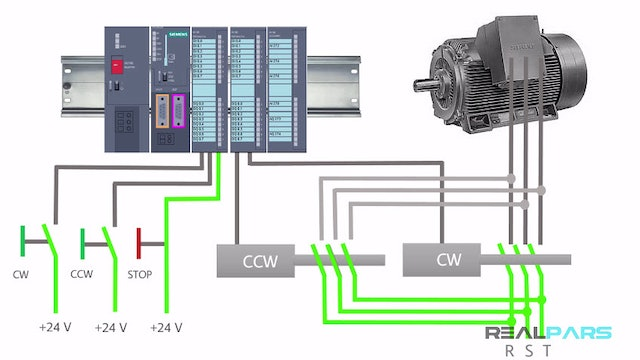 19. CW and CCW Rotations PLC Program (Normal Mode)