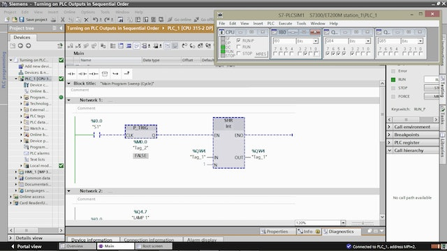 9. Turning on PLC Outputs in Sequential Order – Part 4