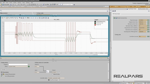 9. Tuning the PID Control Loop with the PLC Simulator