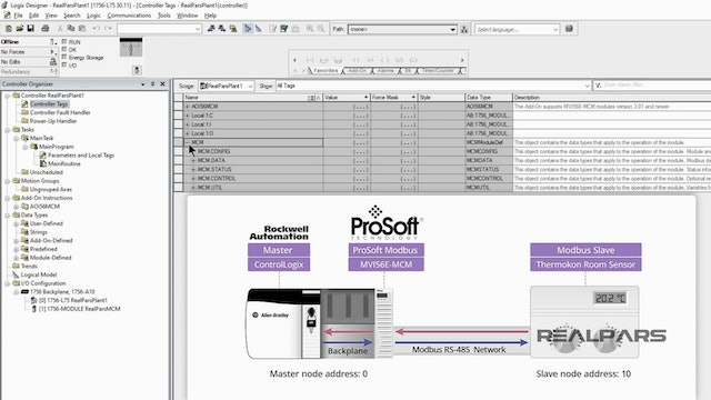4. How to configure the ProSoft Technology Rockwell Studio 5000 Modbus commands