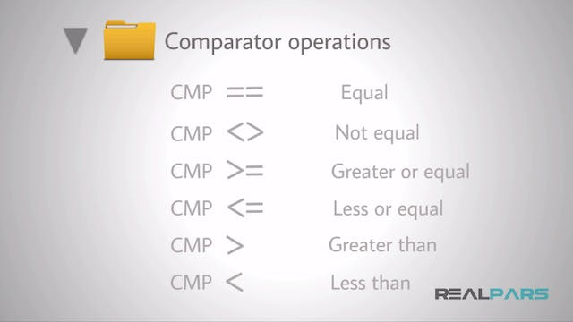 1. Introduction to Comparator Operations PLC Programming