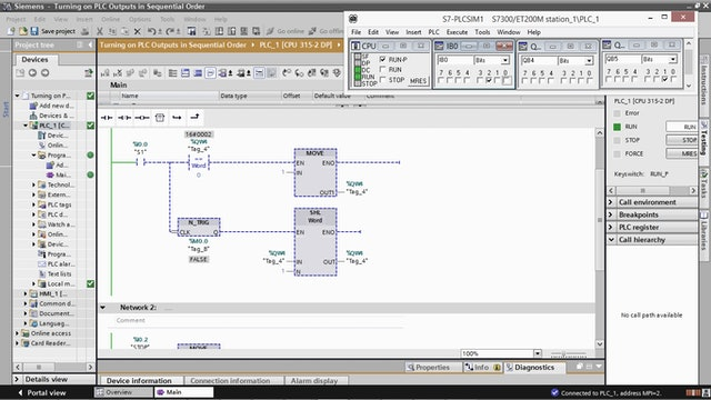 14. Turning on PLC Outputs in Sequential Order using the SHL Instruction