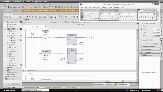 183. Turning on PLC Outputs in Sequential Order using the SHL Instruction
