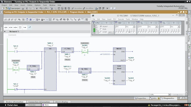 11. Turning on PLC Outputs in Sequential Order – Part 10