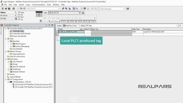 6. Adding the Local PLC Produce Tag