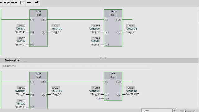6. Gas Turbine Temperature Control PLC Program - Part 2