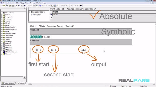 47. Using a Symbol Table for Symbolic Addressing in PLC Programming