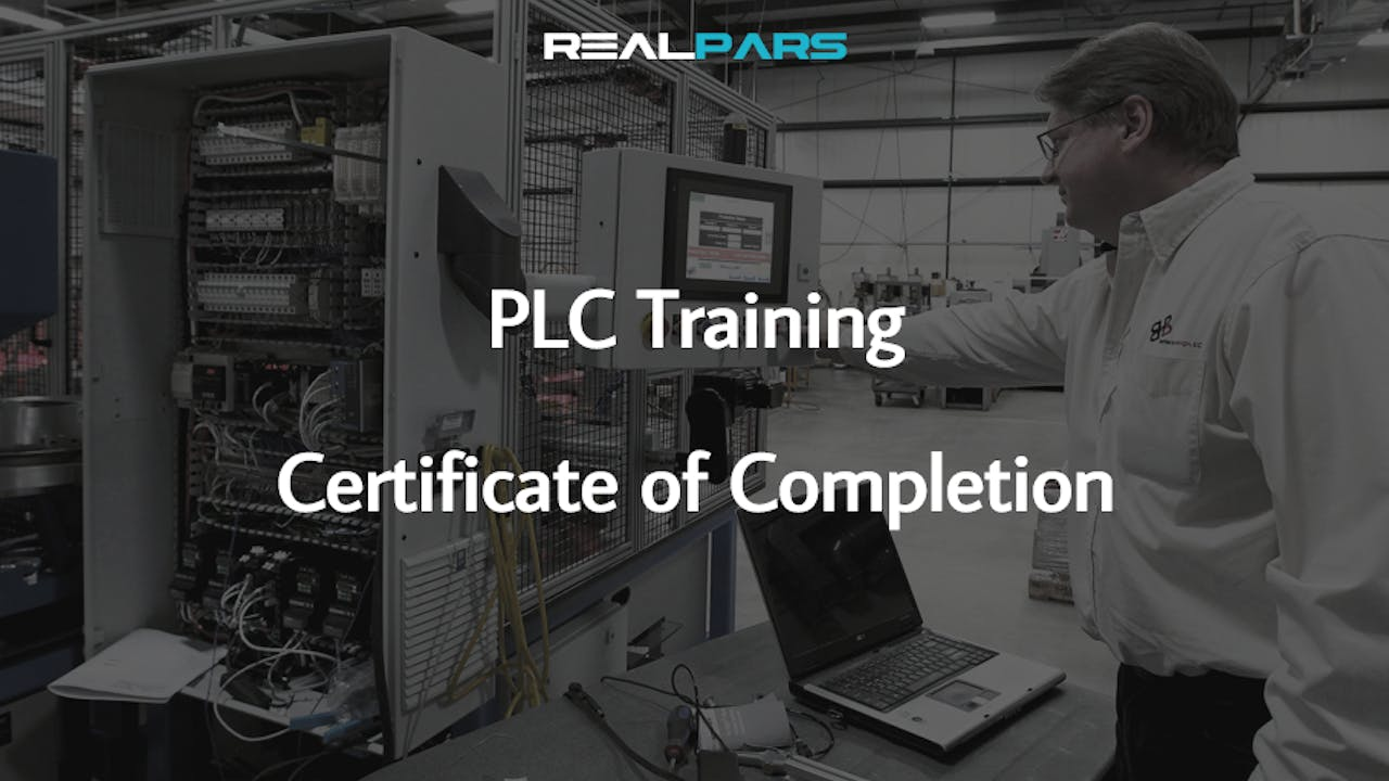 PLC Programming Certificate of Completion