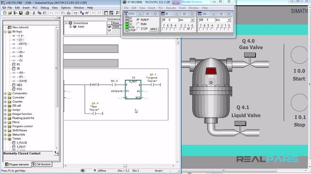 72. Automatic Industrial Dryer PLC Program (Not Instruction)