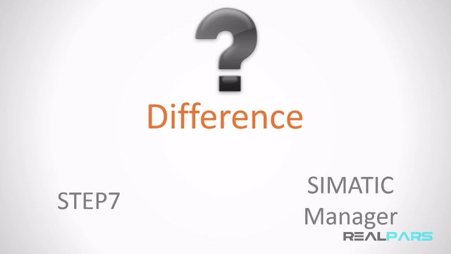 1. Difference Between STEP7 and SIMATIC Manager