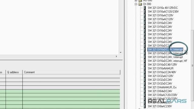 29. PLC Digital Input Module Configuration