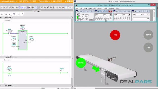 112. Factory Warehouse PLC Program _ Comparator Operations